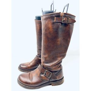 EUC Women's Frye Leather Knee High Brown Boots